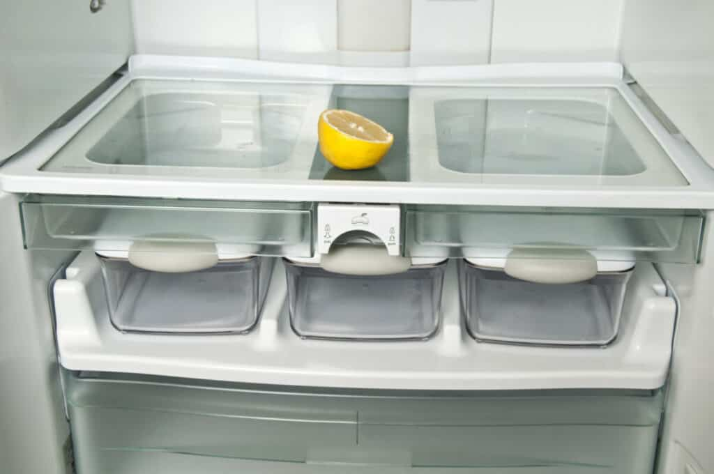 lemon in a fridge