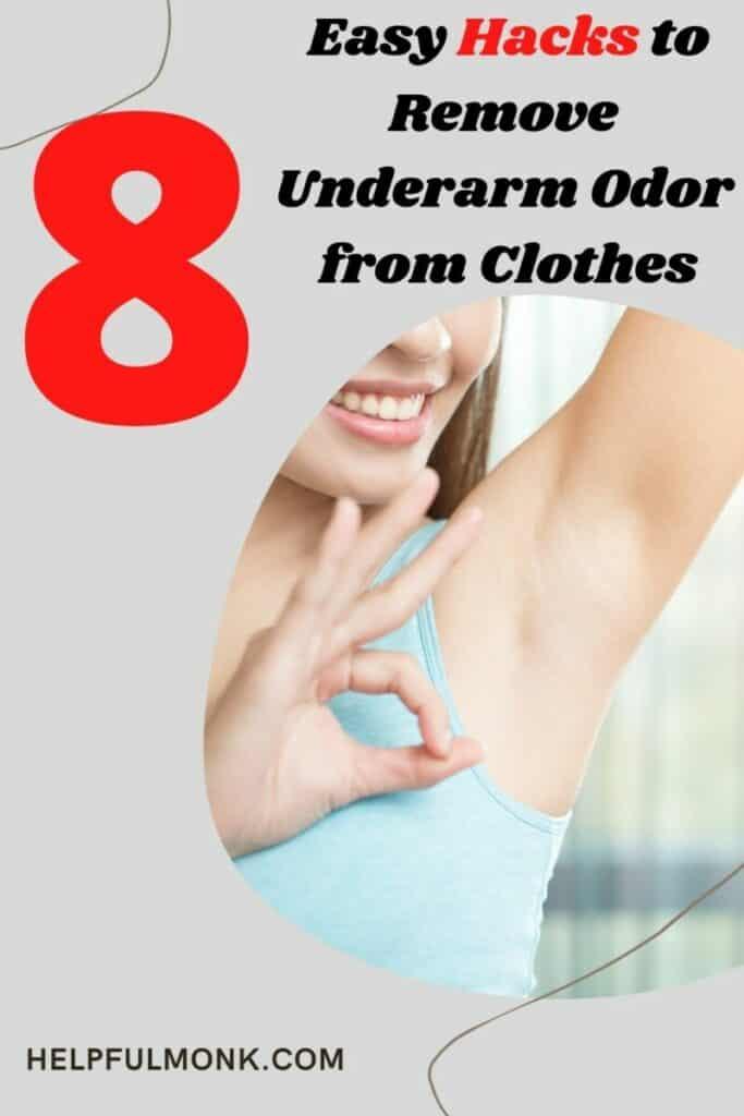 hacks to remove body odor