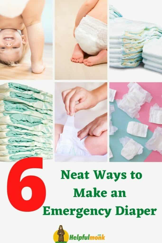 6 Neat Ways to Make an Emergency Diaper