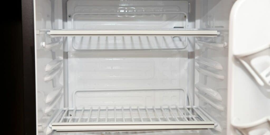 Empty Clean Defrosted Fridge