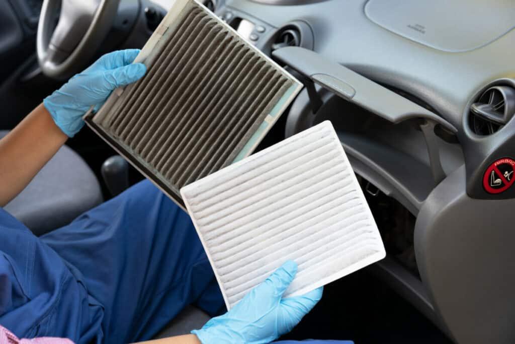 clean car filters